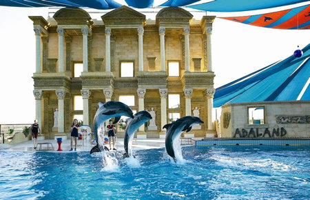 A view from Dolphin and Seal Shows in Marmaris