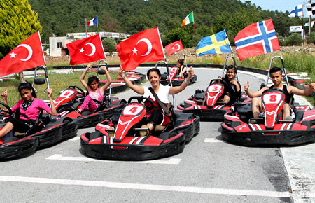 A view from Go Kart in Marmaris
