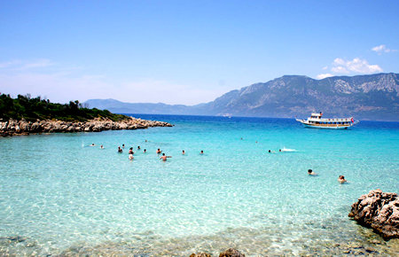 A view from Cleopatra Island in Marmaris