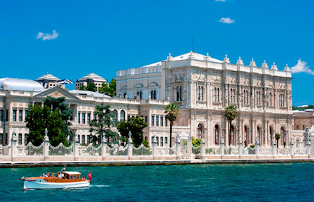 A view from Dolmabahce Palace