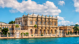 A view from Dolmabahce Palace in Marmaris