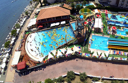 A view from Waterpark in Marmaris