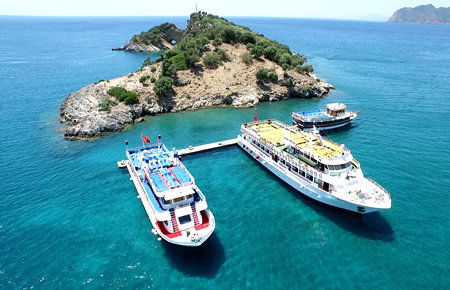 A view from Dalyan & Turtle Beach By Boat