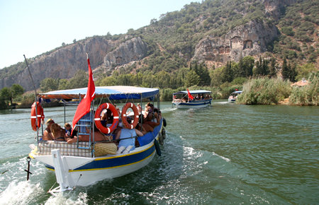 A view from Dalyan & Turtle Beach By Boat in Marmaris
