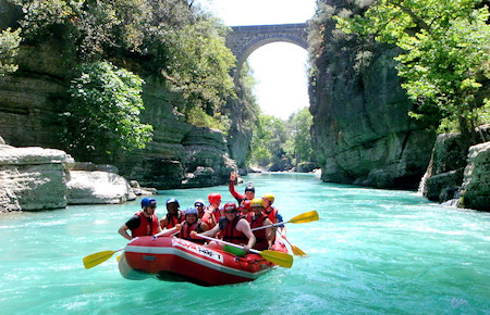 A view from Antalya Rafting Manavgat River Tour