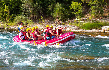 A view from Antalya Rafting Manavgat River Tour in Antalya