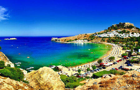 A view from Rhodes Island
