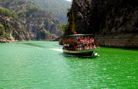 A view from Green Canyon Boat Trip in Antalya