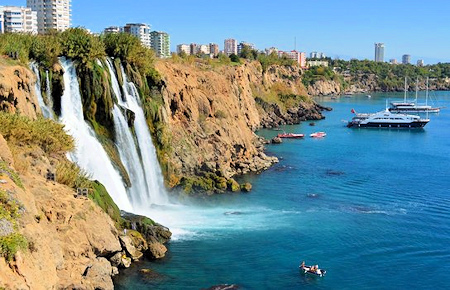 A view from Antalya City Tour and Duden Waterfalls