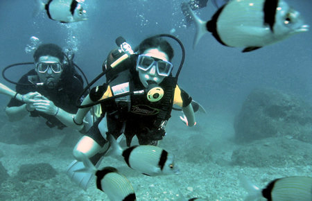 A view from Kemer Scuba Diving in Antalya