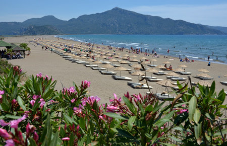 A view from Dalyan & Turtle Beach in Bodrum