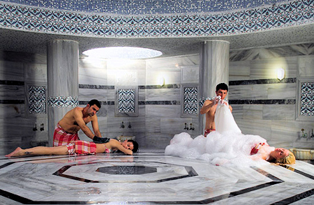 A view from Antalya Deluxe Package Turkish Bath