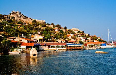 A view from Sunken City & St. Nicholas Church in Antalya