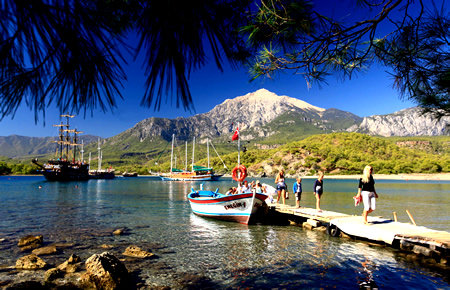 A view from Pirate Boat Trip in Antalya