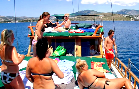 A view from Bodrum Happy Hour Boat Trip
