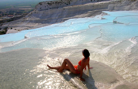 A view from Pamukkale in Bodrum