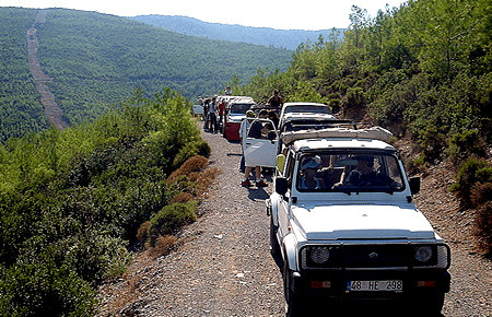 A view from Jeep Safari in Bodrum