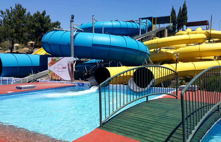 A view from Bodrum Aqualand in Marmaris