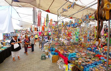 A view from Turkish market in Turgutreis