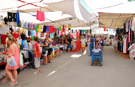 A view from Turkish market in Turgutreis