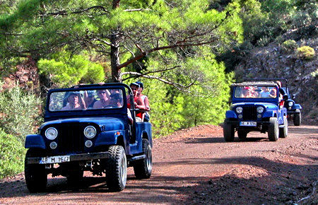 A view from Jeep Safari in Marmaris