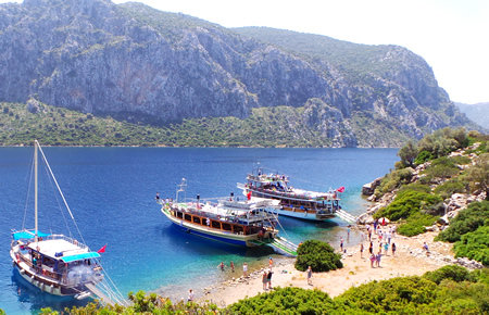 A view from Aegean Islands All Inc. Boat Trip in Marmaris