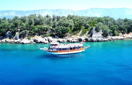 A view from Gokova Bay Boat Trip in Marmaris