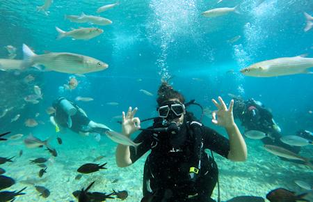 A view from Kusadasi Scuba Diving
