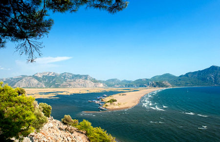A view from Dalyan and Turtle Beach in Fethiye