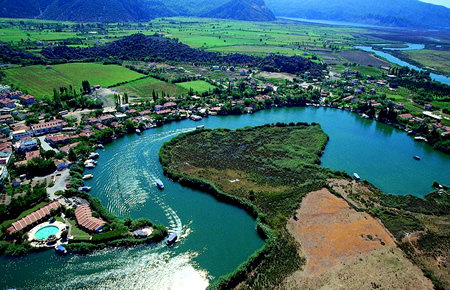 A view from Dalyan and Turtle Beach