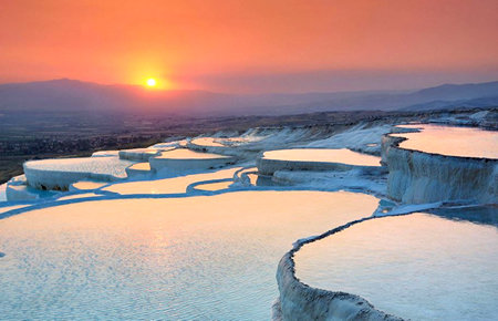 A view from Pamukkale in Fethiye