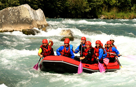 A view from Fethiye White Water Rafting