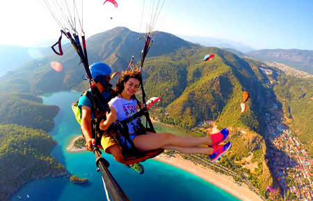 A view from Paragliding Oludeniz in Marmaris