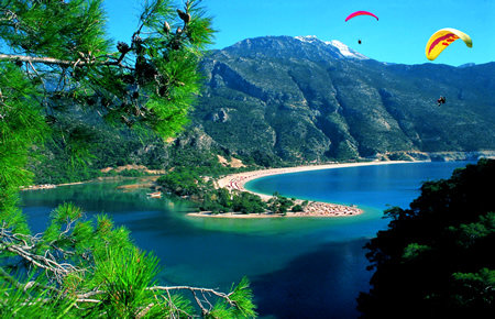 A view from Paragliding Oludeniz in Fethiye