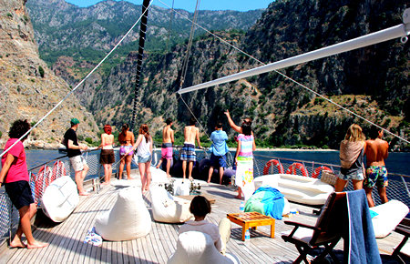 A view from Oludeniz Lazy-Day Boat Trip in Marmaris
