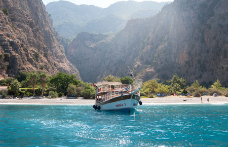 A view from Oludeniz Lazy-Day Boat Trip